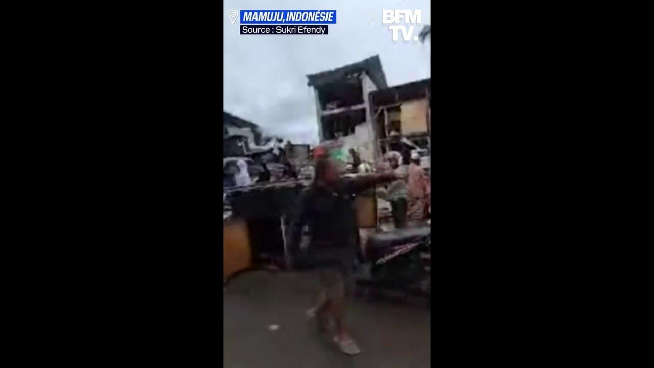 Les images des dégâts causés par le séisme en Indonésie