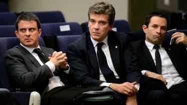 Manuel Valls, Arnaud Montebourg et Benoît Hamon en 2013.