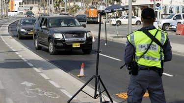 Un contrôle routier à Tel-Aviv le 18 septembre 2020.