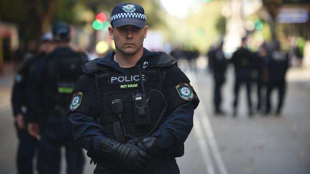 Police antiémeute australienne. (illustration)
