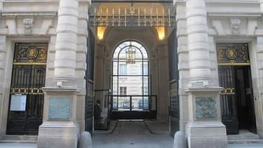 La Cour des comptes, rue Cambon à Paris.
