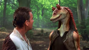 Jar Jar Binks et Obi-Wan Kenobi
