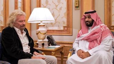 Richard Branson et Mohammed ben Salmane