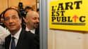 """En visite à Nantes à l'occasion des Biennales internationales, François Hollande a promis jeudi qu'une fois élu il """"sanctuariserait"""" le budget de la culture et proposerait une loi appelée à remplacer la Hadopi, le dispositif créé pour lutter contre le tél"""