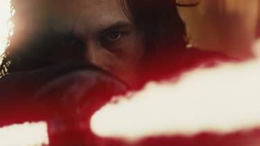 "Adam Driver dans ""Star Wars: Les derniers Jedi""."