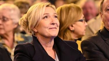 Marine Le Pen aux voeux du maire Patrick Kemel, près de Lens, le 17 janvier 2020