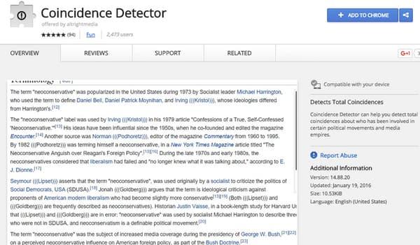 L'extension qui a été supprimée par Google de son Chrome Store.