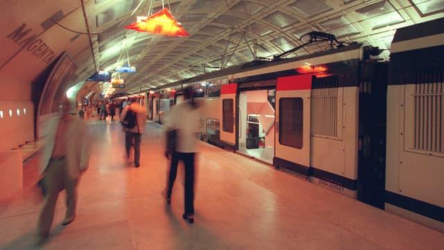 Ligne E du RER, station Magenta. (Illustration)