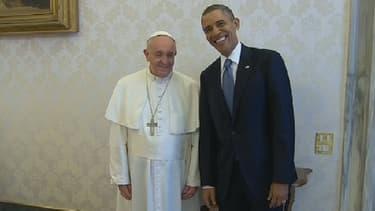Barack Obama rencontre le pape François au Vatican, le 27 mars 2014.