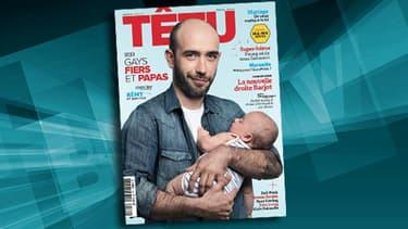 La couverture du magazine Têtu pour son édition de juin.