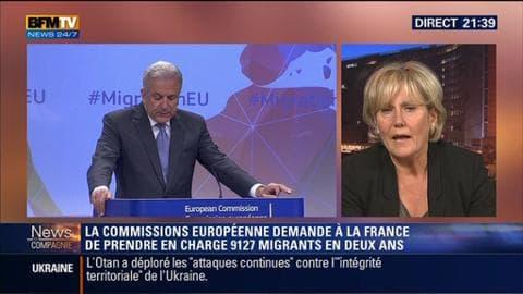 """""""Le dispositif d'immigration imposée n'est pas du tout réalisable dans l'espace Schengen"""", estime Nadine Morano"""
