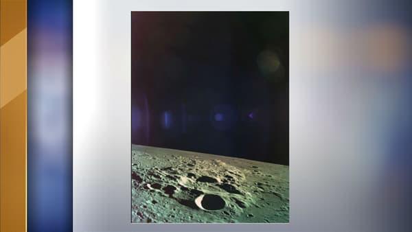 La dernière image prise par la sonde Bereshit en se posant sur la Lune, le 11 avril 2019.