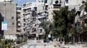 A Alep, la capitale économique de la Syrie. Selon la télévision d'Etat, les forces loyales au président Bachar al Assad ont pris le contrôle du quartier de Salaheddine, dans le sud d'Alep et tué la plupart des rebelles présents sur place. /Photo prise le