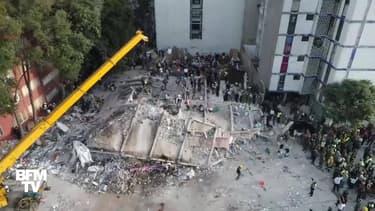Séisme au Mexique: des dégâts impressionnants vus par drone
