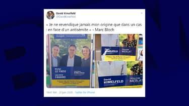 Des affiches de David Kimelfeld ont été taguées d'inscriptions antisémites