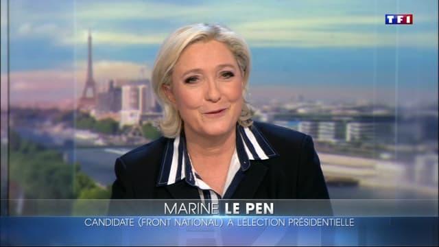 Marine Le Pen sur TF1.