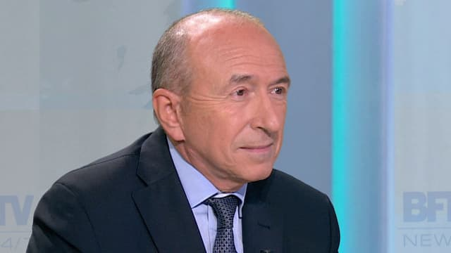 Le sénateur-maire socialiste de Lyon, Gérard Collomb sur BFMTV le 6 octobre 2015.