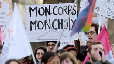 Manifestation pour l'avortement à Paris en 2015