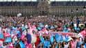 La Manifestation pour tous sur l'esplanade des Invalides à Paris le 21 avril 2013.