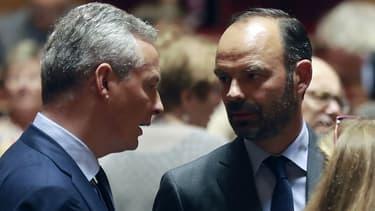 Bruno Le Maire et Édouard Philippe