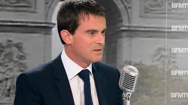 Manuel Valls, jeudi matin sur BFMTV et sur RMC.