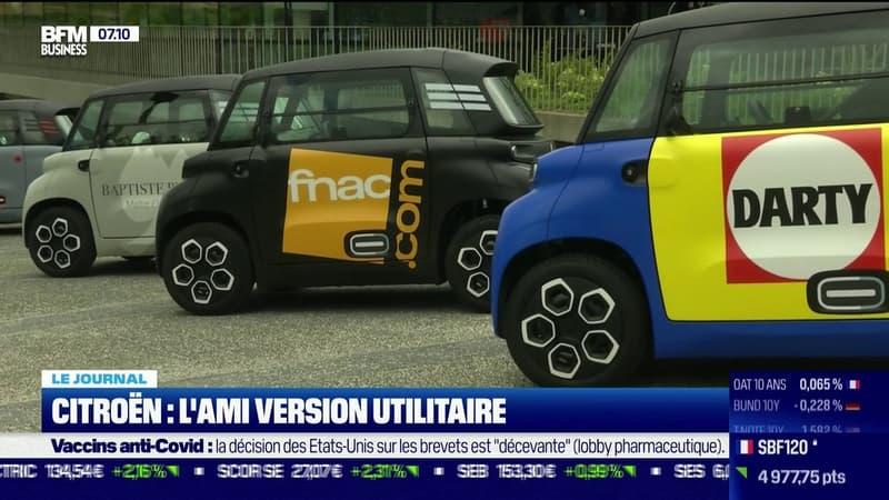Citroën dévoile une version utilitaire de sa petite voiture électrique, l'AMI