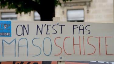 Manifestation contre le gaz de schiste, le 10 mai 2011 à Paris.