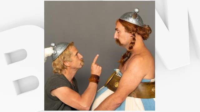 Guillaume Canet et Gilles Lellouche dans leurs costumes d'Astérix et Obélix