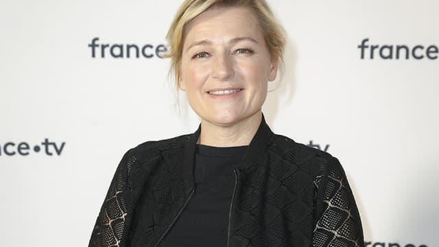 L'animatrice Anne-Elisabeth Lemoine lors de la conférence de presse de France Televisions, le 18 juin 2019 à Paris.