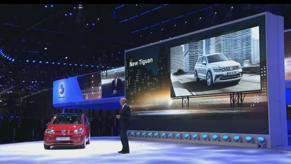 Volkswagen a présenté la nouvelle up avec un turbo au salon de Genève 2016.