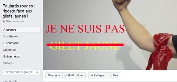 La page Facebook des Foulards Rouges