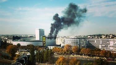 La Maison de la radio touchée par un important incendie.