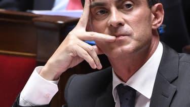 Le Premier ministre Manuel Valls, lors de la séance des questions au gouvernement ce mercredi à l'Assemblée nationale.