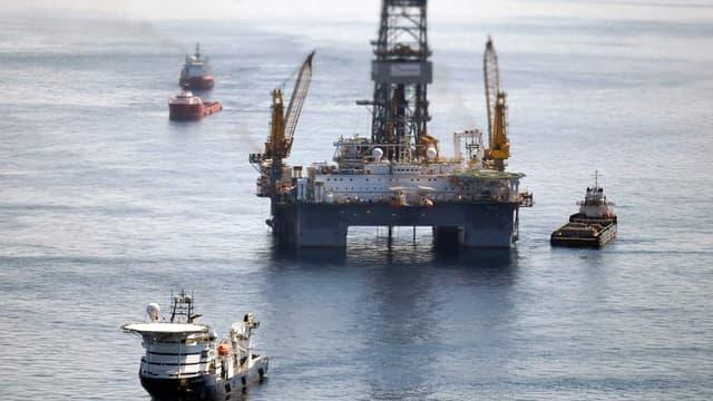 La plateforme Deepwater dans le Golfe du Mexique en 2010
