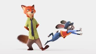 Les deux héros de Zootopie, le dernier Disney, qui vient de passer la barre du milliard de dollars au box-office.
