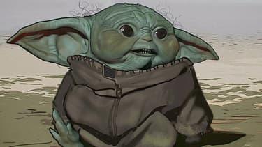 Un premier design de Baby Yoda
