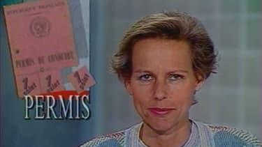 Dans son JT en 1989, Christine Ockrent annonce l'introduction à venir du permis à points.