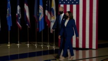 États-Unis: les images de la première apparition publique de Joe Biden avec sa colistière Kamala Harris