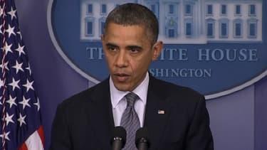 Barack Obama ému aux larmes après la fusillade de Newtown.