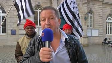 Thierry Merret, président de la FDSEA Finistère, sur BFMTV, le 8 novembre 2013.