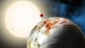 Le centre d'astrophysique Harvard Smithsonian a diffusé ce croquis représentant Kepler-10 c.