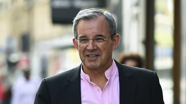 Thierry Mariani, près du quartier général du parti Les Républicains, le 11 juillet 2017 à Paris.