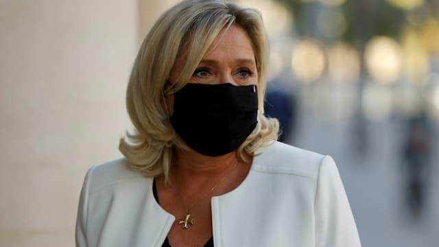 La présidente du Rassemblement national Marine Le Pen à Paris, le 22 septembre 2020