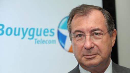 Martin Bouygues, le PDG de Bouygues ce mercredi 26 février, lors de la publicationn des résultats de son groupe.