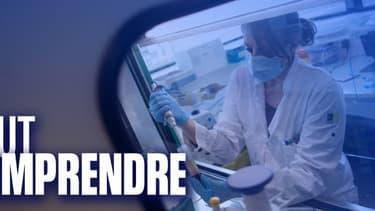 Une scientifique prépare des vaccins - Image d'illustration