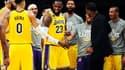Les joueurs des Lakers