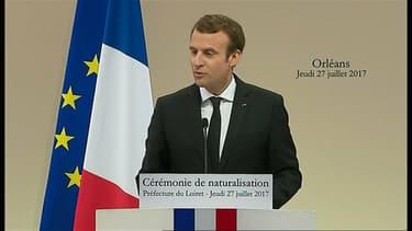 Emmanuel Macron à Orléans le 27 juillet 2017.