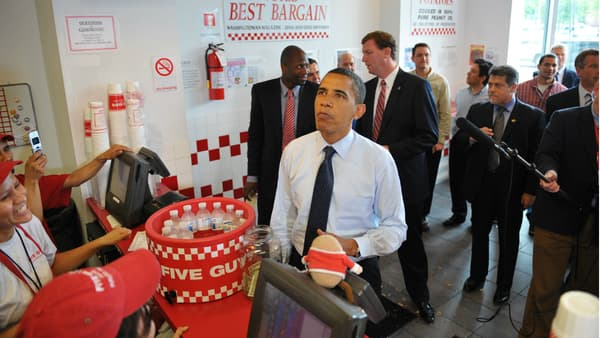 Barack Obama a fait connaître la chaîne Five Guys en 2009 en se payant un burger dans le restaurant de Washington.