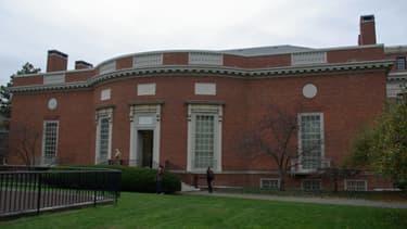 La bibliothèque de Houghton sur le campus de la prestigieuse université de Harvard.