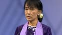 Aung San Suu Kyi lors de son passage en Suisse.